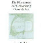 Die Flurnamen der Gemarkung Gerolzhofen